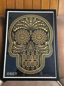 Obey  Day of the Dead. Skull. Shepard Fairey Signed