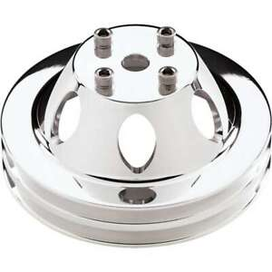 BILLET SPECIALTIES Polished 2 Groove Water Pump Pulley Chevy V8 P/N 78120