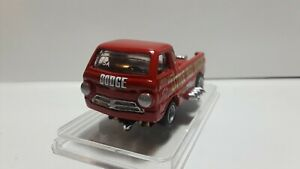 CUSTOM RESIN HO SLOT CAR 1966 DODGE DRAG TRUCK  W/A NEW AW X-TRACTION HO CHASSIS