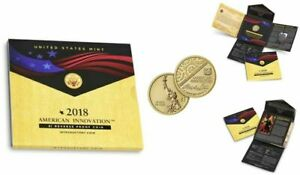 2018 S REVERSE PROOF American Innovation Dollar Coin SIGNED BY DAVID J. RYDER