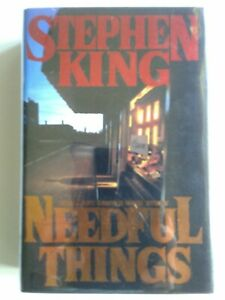 RARE *SIGNED*Stephen King's-NEEDFUL THINGS-1st print HCwDJ- MAGNIFICENT copy