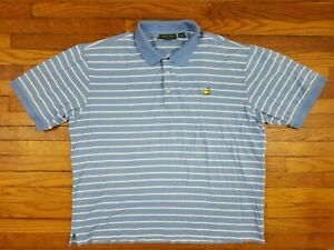 Masters Collection Mens XL Striped Polo 60s 2 Ply Mercerized Pima Cotton Shirt