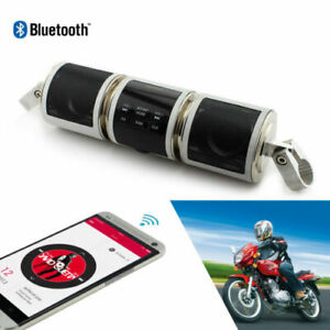 USB Audio Sound System Stereo Bluetooth Speakers FM Radio For Motorcycle MP3