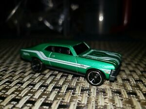 2017 68' CHEVY NOVA Hot Wheels Flames Series - Green White near mint