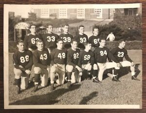 Original NCAA Football Photo Antique 1940 Harvard University Crimson Football