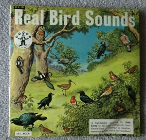 RARE - REAL BIRD SOUNDS - DANDY BOOK RECORDS DB 101 - RED -1960's - 12 page book