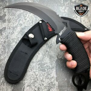 M TECH TACTICAL KARAMBIT KNIFE SURVIVAL HUNTING BOWIE Fixed Blade w SHEATH NEW $12.95