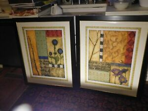 Pair of Giclee Lithograph Prints Signed Limited Ed. Seeds of Time I