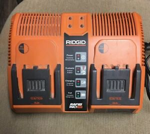 RIDGID Rapid Max 12v 14.4v 18.0V Twin Dual Battery Charger Station 140276002