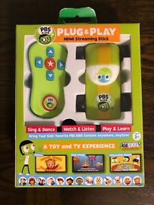 PBS Kids Plug & Play Wi-Fi Streaming HDMI Video TV Stick Age 2+ Brand New