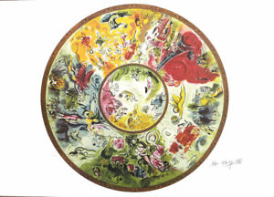 MARC CHAGALL Paris Opera House Ceiling Litho Print P Signed COA $54.95