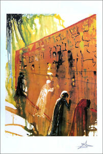 Salvador DALI The Wailing Wall Litho Print P Signed Numbered COA $54.95