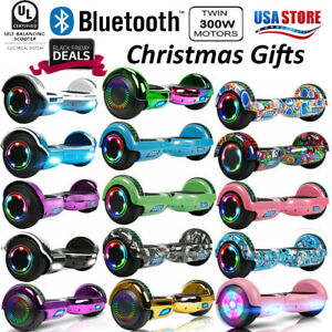 Bluetooth Hoverboard Swagtron UL2272 Scooter Hover Board All-Terrain Side-Light