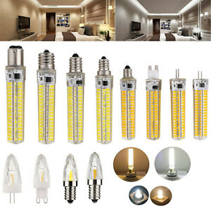 G4 E12 G9 E14 E17 GY6.3 Dimmable Silicone Crystal LED Corn Light 12W 4W Lamp SS