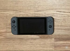 Nintendo Switch 32GB Gray Console (with Gray Joy-Cons) With White Case