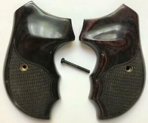 Charter Arms Grips Rosewood Checkered Undercover Pathfinder Bulldog etc