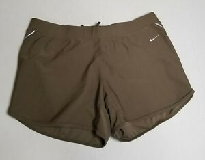 NIKE DRY FIT Woman's RunningGym Shorts Size S Brown