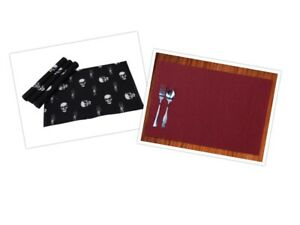 Rectangular Dining Placemats Cotton Place Mat for Kitchen Dinner Table Cloth Set