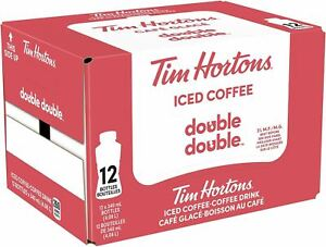 Tim Hortons Iced Coffee Double Double340mL 11.5oz 12ct{Imported from Canada}