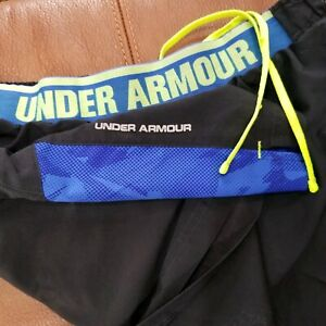 UNDER ARMOUR BRIEF LINED RUNNING SHORTS MENS SIZE XL POLYESTER EXCELLENT COND