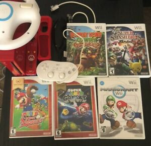 Nintendo Wii Limited Edition Red Console with Wii And More