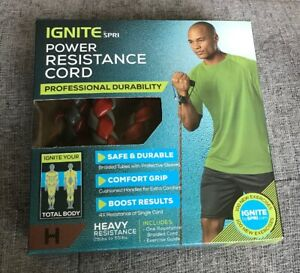 Ignite by Spri Power Resistance Exercise Cord - Heavy Resistance (25-55 lbs)