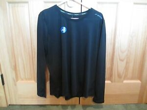 Brooks Women's Distance Long-Sleeve Running Shirt Medium Black Run Happy