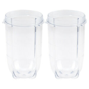 2 Magic Bullet Replacement Tall Cups use with MB 1001 CROSS OR FLAT BLADE NEW $13.99