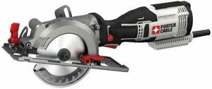 Porter Cable 5.5 Amp 4 1 2 in. Compact Circular Saw Kit PCE381K New $79.99