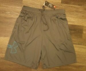 Men's New wtags Under Armour Athletic Gym Shorts Gray Color Size XXL Loose Fit