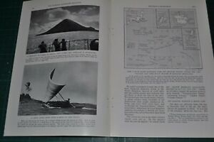 1936 MICRONESIA magazine article Yap etc Japanese South Pacific Mandate natives