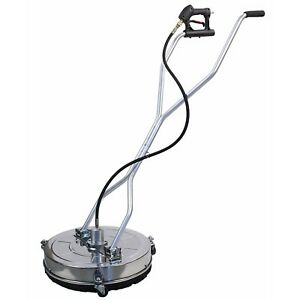 Stainless Steel Flat 24″ Pressure Power Washer Surface Cleaner 4000 PSI 8GPM