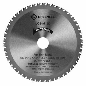 New Greenlee LCS-M13D Metal Cutting Saw Blade For Thin Steel 5-3/8