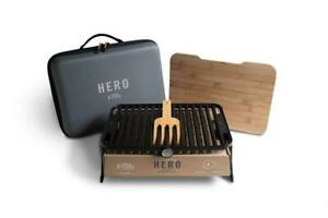 Hero Foldable Compact Charcoal Barbecue BBQ Grill Outdoor Camping Cooker System