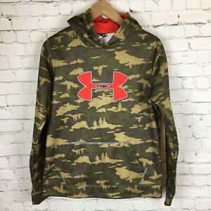 Under Armour Red Realtree Camo Storm Pullover Hoodie Big Logo. YXL youth XL. $29.99