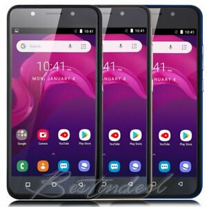 Android 8.1 Unlocked Cheap Cell Phone Quad Core 2SIM 3G GSM T-Mobile Smartphone