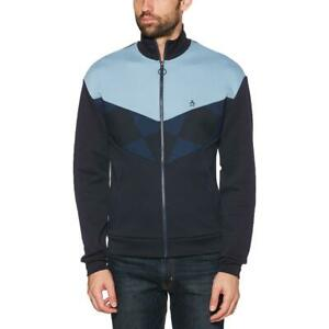 Original Penguin Mens Navy Fall Colorblock Casual Track Jacket Top XXL BHFO 2567