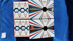 2 3 4 or 6 Brand New Boxes of White or Yellow Callaway SuperSoft Golf Balls