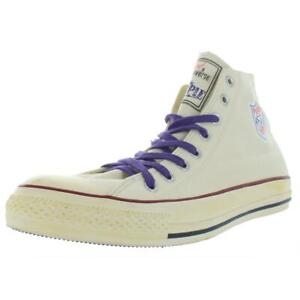 Converse Mens Ivory High Top Unisex Skate Shoes Sneakers 12 Medium (D) BHFO 6715