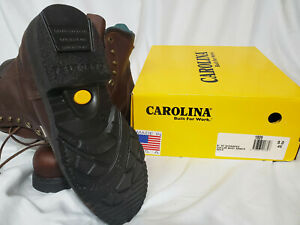 Carolina Steel Safety Toe Brown Leather Work Boots 8quot; Mens Size 9 4E Wide