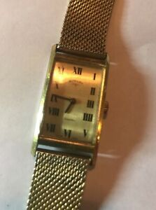 Vintage Rotary Gold Plated Mechanical Working Watch