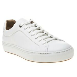 New MENS BOSS WHITE MIRAGE TENN BU LEATHER Sneakers