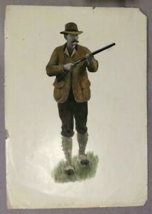 A.B.Frost Chromolithograph or Print of Man Hunting or Hunter The Huntsman