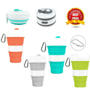 550mL Silicone Travel Folding Cup Portable Retractable Telescopic Collapsible