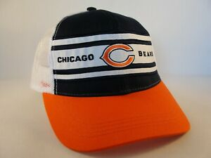 Chicago Bears NFL Trucker Snapback Hat Cap Navy White Orange
