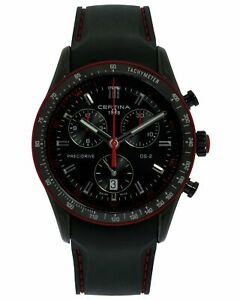 Certina DS-2 Black PVD Chronograph Quartz Men's Watch C0244471705133