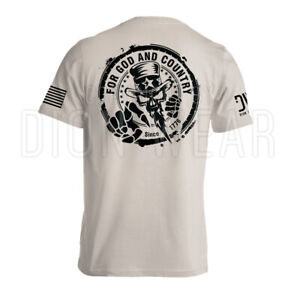 Uncle Sam For God and Country American Military Patriotic Men#x27;s T shirt
