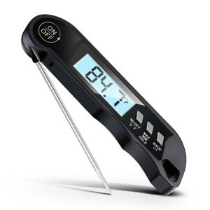 Waterproof Meat Thermometer-Black-Accurate-New