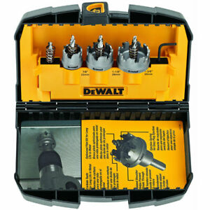 DeWalt DWACM1802 3Pc Metal Cut Carbide Hole Saw Set