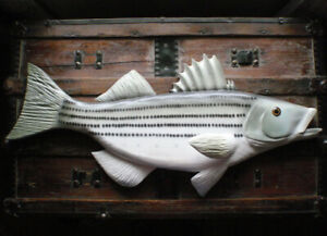Wood Carving RON YOUNG - ATLANTIC STRIPED SEA BASS STRIPER FISH Decoy Lure
